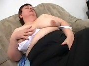 GILF fatty enjoying a nasty pussy humping