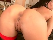Sexy brunette Carole is stripping and masturbating