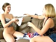 Lesbo roommies sniff off their creaming panty clad cunnies