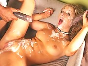 Jaelyn gets splattered with hot jizz in her sexy body
