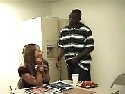 Hot chick gets fucked at the office by her colleague