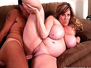 Naughty mature BBW getting banged from behind