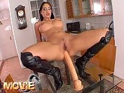 Sexy Lara fucked by two cocks