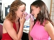 Lesbos sniffing panties and playing with their slits