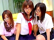 Three Horny School girls gets fucked