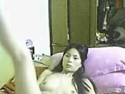 Video of a sexy Asian girl getting naughty