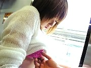 Osaka school girl getting fucked live in a moving train