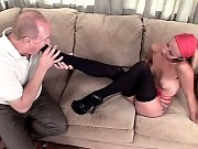 Watch this older man start on licking Jayden Rose in her foot then all the way into her pussy