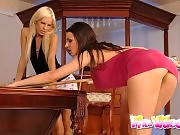 Kinky babes have a good time on the biliard table