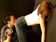 She gets her jeans teared apart to show her pussy